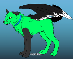 winged canine adoptable  for sell -OPEN by HunterDarkWolf