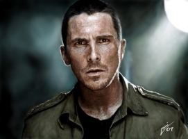 Christian Bale by Joruji