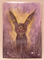 Umbreon ACEO by catghost