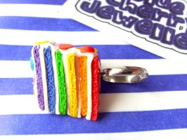 Rainbow Slice Cake Ring Side by tyney123