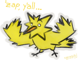 Zapdos says Hello by ezeqquiel