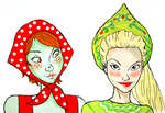Miss Martian and Artemis  Greetings from Russia by mooroz