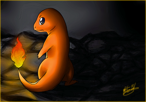 Charmander the Pokemon by frostfoxie