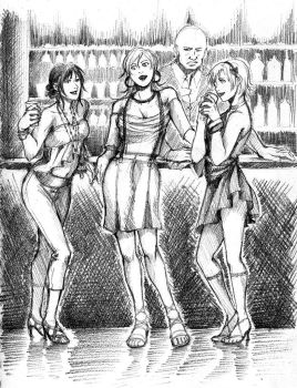 Bar Girls by dzioo