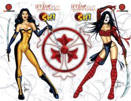 Jetta and Shi Covers A and B by martheus