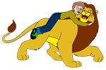 A Boy and his Lion by BennytheBeast