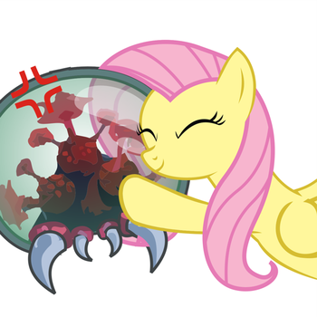 Fluttershy Meets a Metroid #4 by Twifight-Sparkill