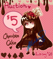 AUCTION OPEN Chocolate Cake Adopt by Sweet-Sisters
