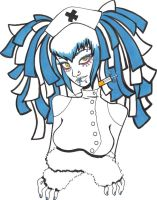 Blue cyber goth nurse by OrShouldI