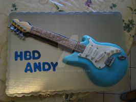 Guitar cake by PnJLover