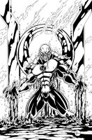 Red Lantern inks by VASS-comics