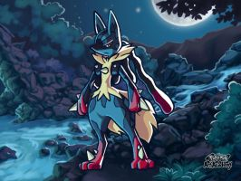 Pokemon Art Academy Stuff: Mega Lucario by SherlockJess