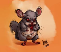 Zombie chinchilla by Kaek