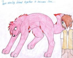 A red wolf with a human...whoa by forgottenlegend