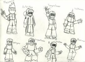 The DSN Series Robot Masters by MagnusRiujin