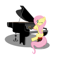 Piano Playing Fluttershy Request by Hotshex