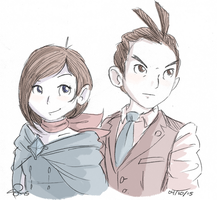 Trucy and Apollo 041015 by VinDeamer