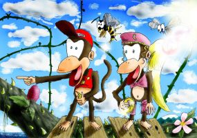 Donkey Kong Country 2 Brambles by SilverFeather64
