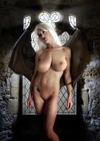 Sabrina the Vampire Queen Melancholy window by FueledbypartII