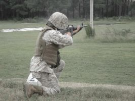 A Marine and His Rifle by Missel21