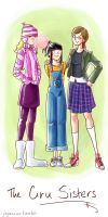 Edith, Agnes, and Margo Gru by Jay-Essence