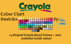 Crayola Pencils - 106 Swatches by Suspiria-Ru