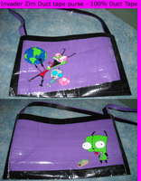 Inzader Zim - Duct Tape Bag by samanthatheodd