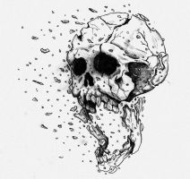 Exploding Skull- Final by JustWithIt
