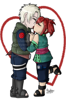 Chibi Kisses - ZenAki by mistressmaxwell