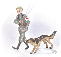 Morose and Molosse by Nikepz