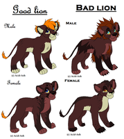 Lion Cubs Adoptables 2 GONE by Kasara-Designs