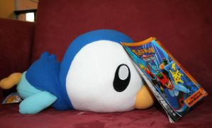 Piplup finds manga about him by Trissacar