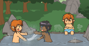 The day in the hot spring by TripletNr2