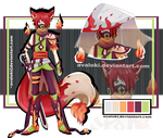Adopt 4 - fire fox gass masked boy -AUCTION [OPEN] by Avaloki