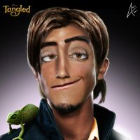 Flynn Portrait- Tangled by Andersiano