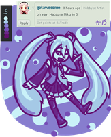(15) Color Palette #5-- Miku by Yanguchitzure