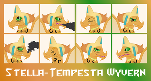 MLP OC Faces - Stella Tempesta Wyvern by outlaw4rc