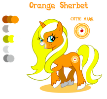 Orange Sherbet ref sheet by Shokka-chan