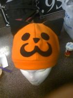 Pumpkin Kitty Fleece Hat by dragongoddess