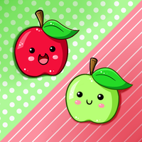 Cute Food- Apples by PPGxRRB-FAN