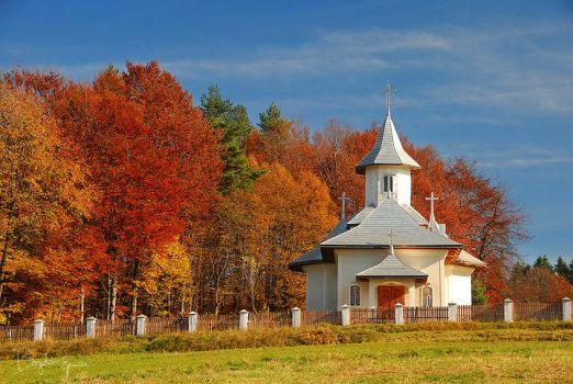 Church of autumn by BogdanEpure