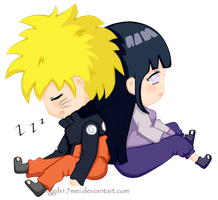 NaruHina : Taking a rest from mission by Singgih17mei