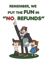 The ''FUN'': Gravity Falls T-shirt and Print by Hanatsumi