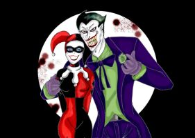 Joker and Harley Quinn by Soraya7