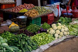 Colored Vegetables Stall by EloTheWhiteRabbit