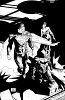Injustice Superman Batman WonderWoman cover1 by Raffaele-Ienco