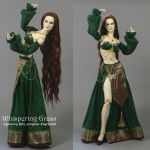 Green and Golden BJD Arabian/Harem Outfit by scargeear