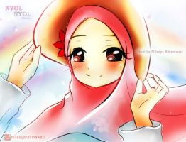 Manga Girl With Veil (Nyol Nyol Comics) by MiladyaRahmawati