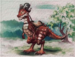 Velociraptor Dragon by Uryen