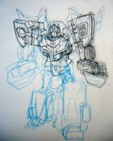 Cybertron HotShot Unfinished by hiredhand
